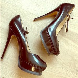 Yves Saint Laurent Tribute Black Heels